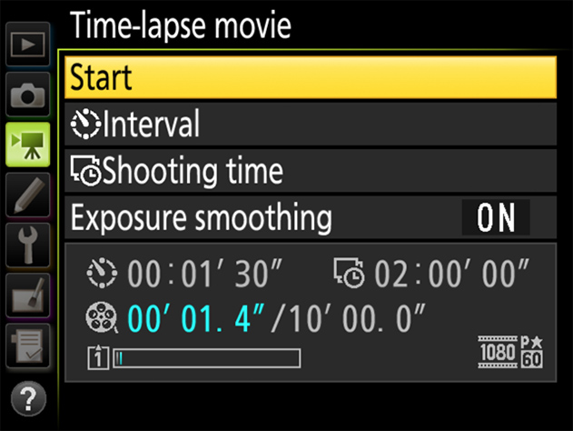 D5 TIPS - Time-Lapse Movies | Technical Solutions | Nikon